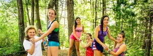 girls at the ropes course